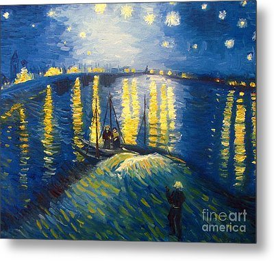 Starry Night Over The Rhoneii Metal Print