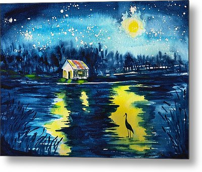 Starry Night Metal Print by Sharon Mick