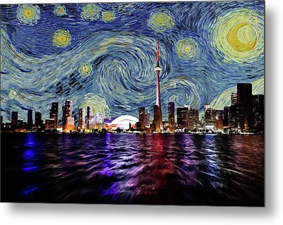 Starry Night Toronto Canada Metal Print by Movie Poster Prints