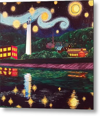 Starry Night With Little Joe Metal Print