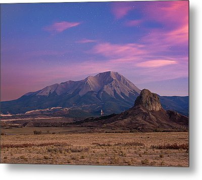 Metal Print featuring the photograph Starry Sunset Over West Spanish Peak by Aaron Spong