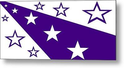 'stars 21' Or 'purple Stars' Metal Print by Linda Velasquez