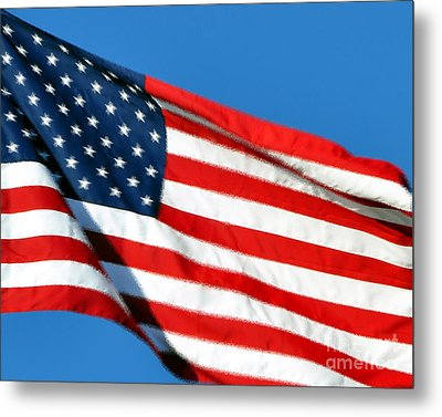 Stars And Stripes Metal Print by Al Powell Photography USA