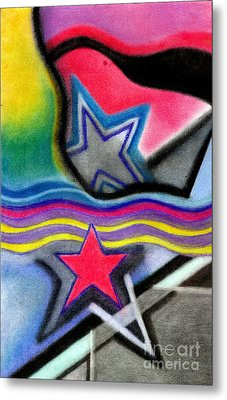 Metal Print featuring the pastel Stars by Christine Perry