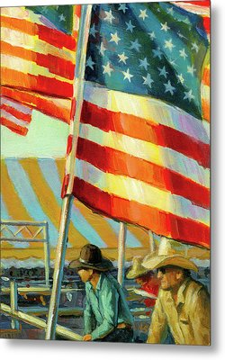 Stars, Stripes, And Cowboys Forever Metal Print