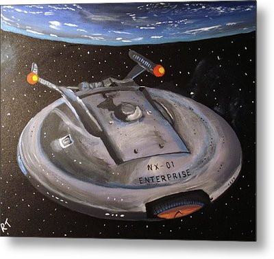 Starship Enterprise Metal Print
