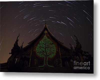 Metal Print featuring the photograph Startrails by Tosporn Preede