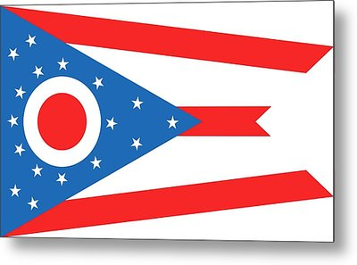 State Flag Of Ohio Metal Print by American School