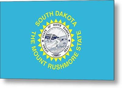 State Flag Of South Dakota Metal Print by American School