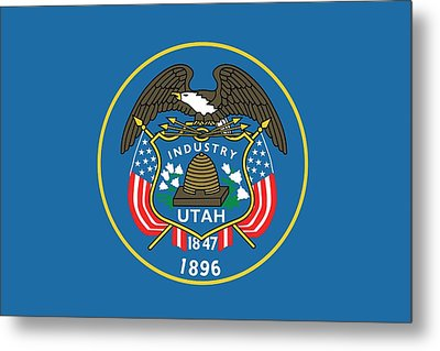 State Flag Of Utah Metal Print