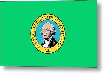 State Flag Of Washington Metal Print