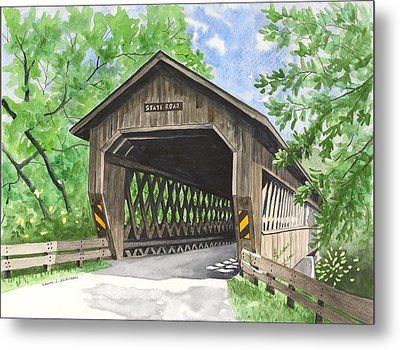 State Road Bridge Metal Print