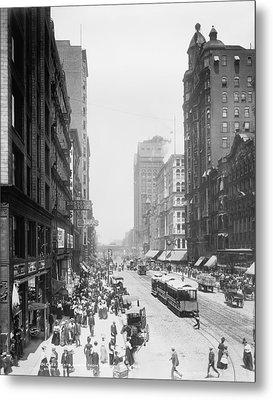 State Street - Chicago 1900 Metal Print