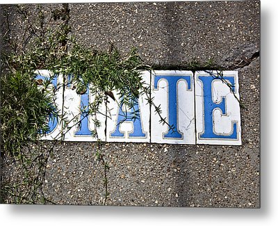 State Street Tiles Metal Print by Federico Arce