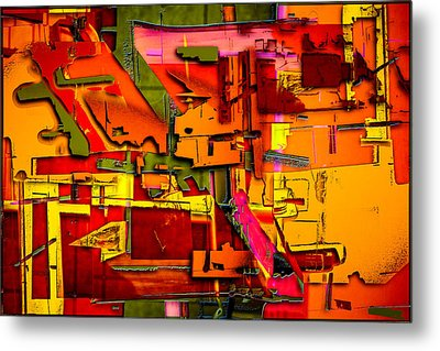 Industrial Autumn Metal Print by Don Gradner