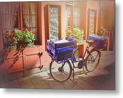 Stationary In Freiburg Metal Print by Carol Japp