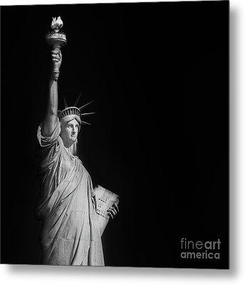 Statue Liberty Metal Print by Henk Meijer Photography