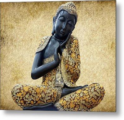 Statue Of Buddha Metal Print