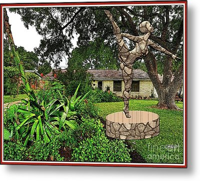 Statue Of Girl Contortionist 4 Metal Print