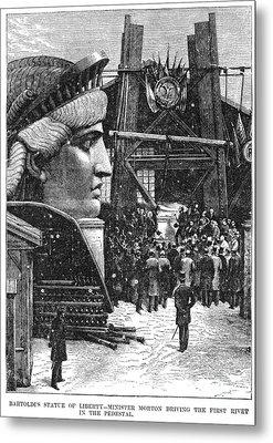 Statue Of Liberty, 1881 Metal Print by Granger