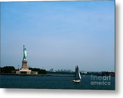 Metal Print featuring the photograph Statue Of Liberty by The Art of Alice Terrill