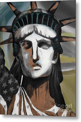 statue of liberty KJ78 Metal Print by Gull G