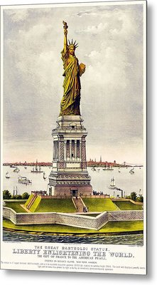 Statue Of Liberty Metal Print by Pg Reproductions
