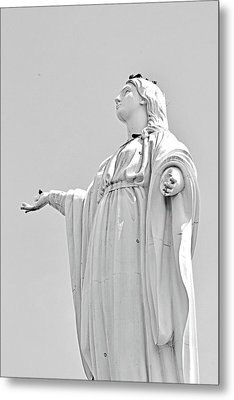 Statue Of The Virgin Mary No. 245-2 Metal Print