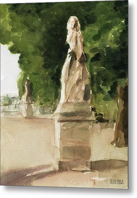 Statues Jardin Du Luxembourg Metal Print by Beverly Brown