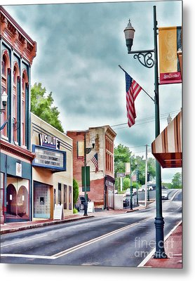 Metal Print featuring the photograph Staunton Virginia - Art Of The Small Town by Kerri Farley