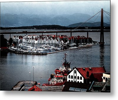 Metal Print featuring the photograph Stavanger Harbor by Jim Hill