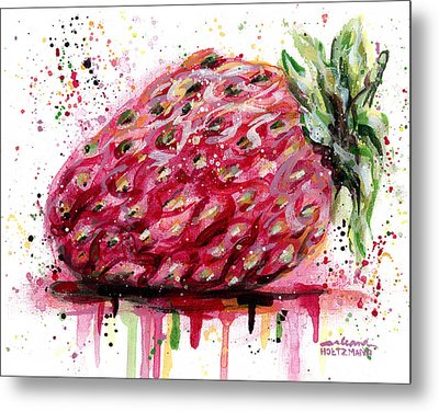 Stawberry 1 Metal Print by Arleana Holtzmann