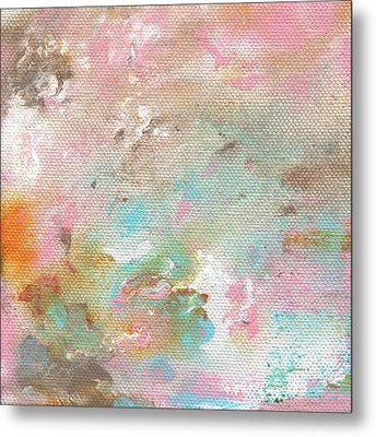Stay- Abstract Art By Linda Woods Metal Print