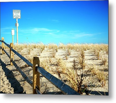 Stay Off The Dunes Metal Print by John Rizzuto