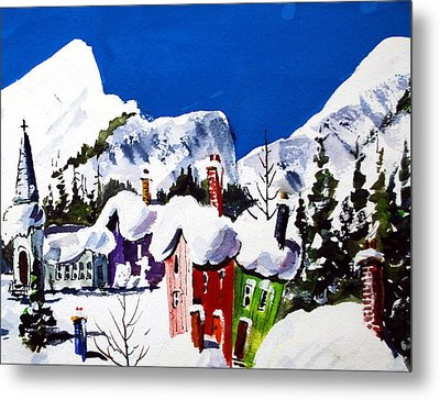 Ste.adele Quebec Metal Print by Wilfred McOstrich