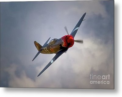 Steadfast Russian Yak Fighter And Will Whiteside Chino Air Show 2011 Metal Print by Gus McCrea