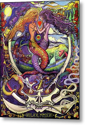 Steal Your Mermaids Metal Print