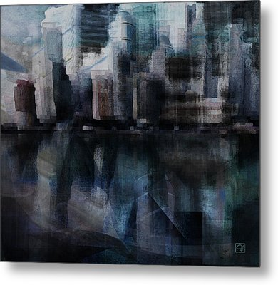 Steam City Metal Print