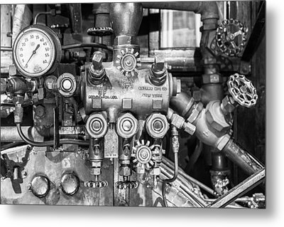 Steam Engine Controls Metal Print