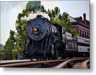 Steam Engine Of Cumberland Metal Print by Christina Durity