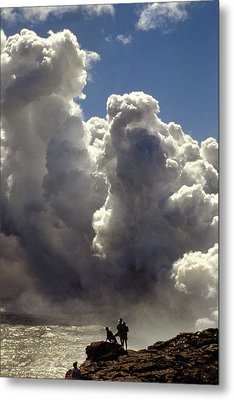Steam From Hot Lava Metal Print by Carl Purcell
