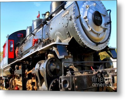 Steam Locomotive Engine 1215 . 7d12980 Metal Print by Wingsdomain Art and Photography