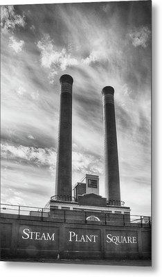 Steam Plant Square Metal Print