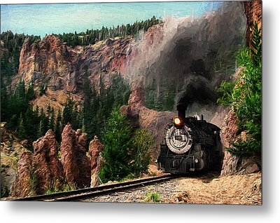 Metal Print featuring the photograph Steam Through The Rock Formations by Ken Smith