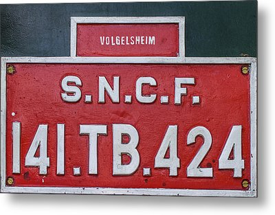 Metal Print featuring the photograph Steam Train Series No 38 by Clare Bambers