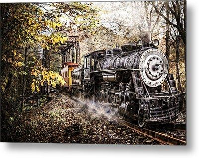 Steam Train's Coming Metal Print by Debra and Dave Vanderlaan