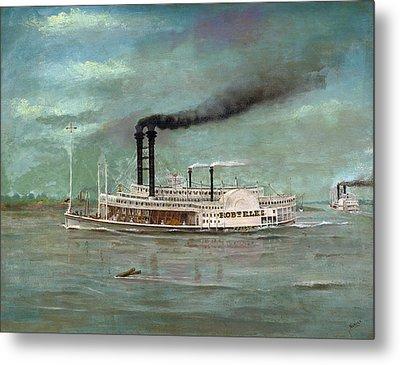 Steamboat Robert E Lee Metal Print by War Is Hell Store
