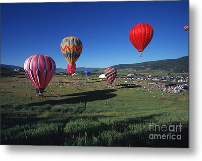 Steamboat Springs Balloon Festival Metal Print by Stan and Anne Foster