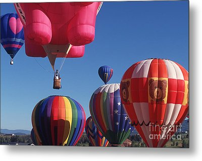 Steamboat Springs Balloons Metal Print by Stan and Anne Foster