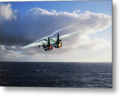 Steamed Metal Print by Peter Chilelli